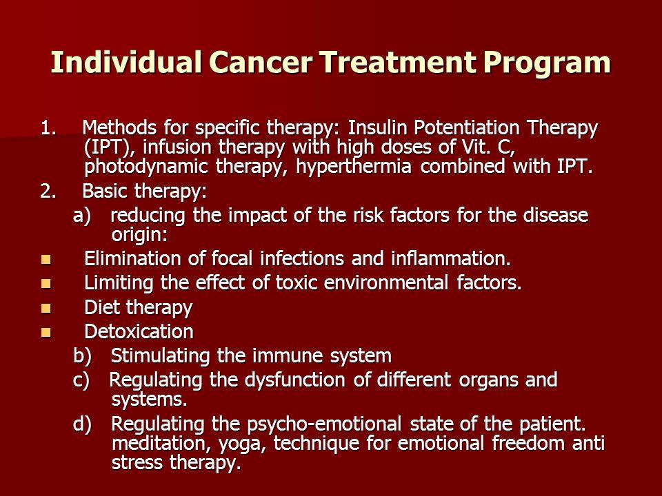 Individual Cancer Treatment Program 1.