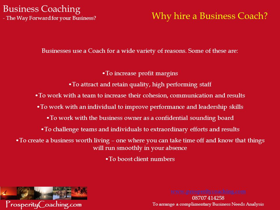 Why hire a Business Coach.