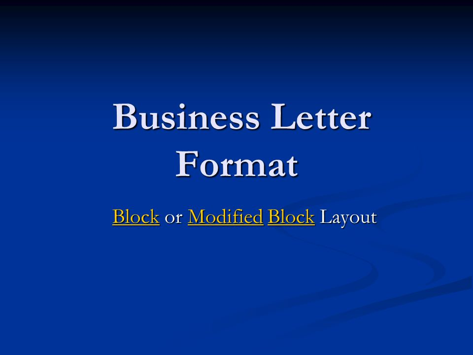 Date Letter Address Signature Block Complimentary Closing Salutation Body Typist's Initials Enclosure Notation Business Format Modified Block