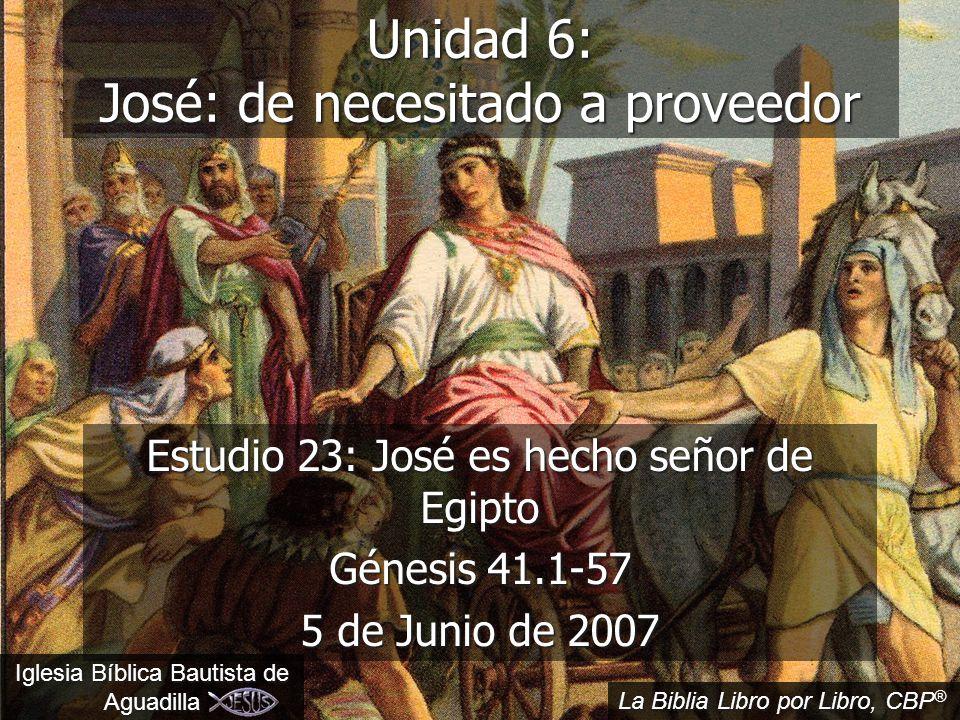 2 Iglesia Bíblica Bautista www.iglesiabiblicabautista.org Texto Básico Génesis: 41.14-16, 28-30, 37- 40, 55-57
