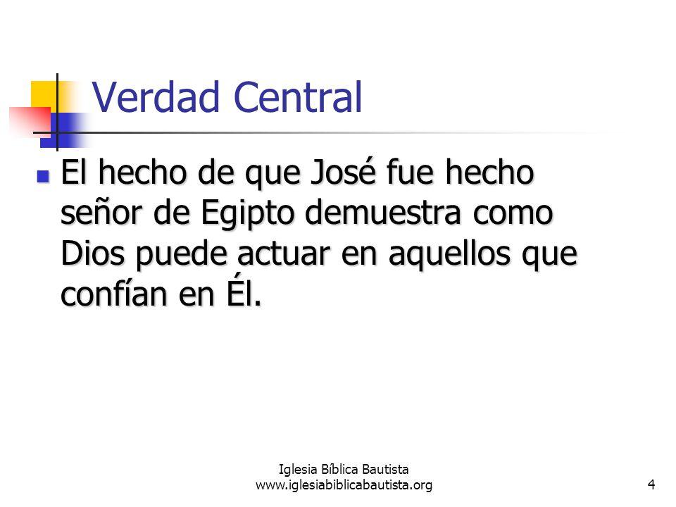 15 Iglesia Bíblica Bautista www.iglesiabiblicabautista.org Preguntas Mencione las circunstancias especiales en que José fue sacado de la cárcel.