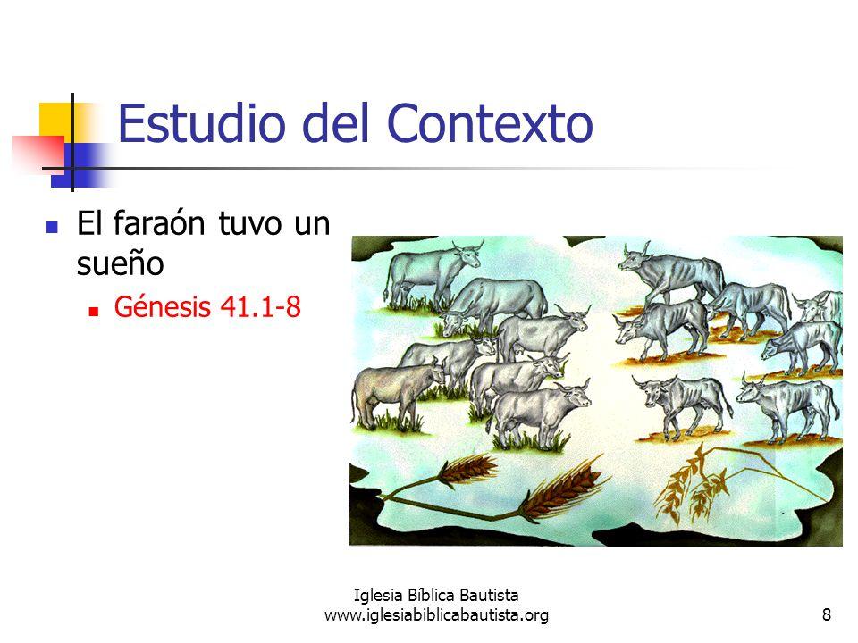 9 Iglesia Bíblica Bautista www.iglesiabiblicabautista.org Estudio del Contexto El copero se acuerda de José Génesis 41.9-13