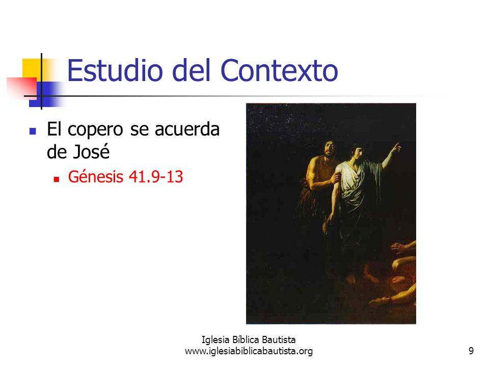 10 Iglesia Bíblica Bautista www.iglesiabiblicabautista.org Estudio del Contexto José interpreta el sueño de faraón Génesis 41.14-32