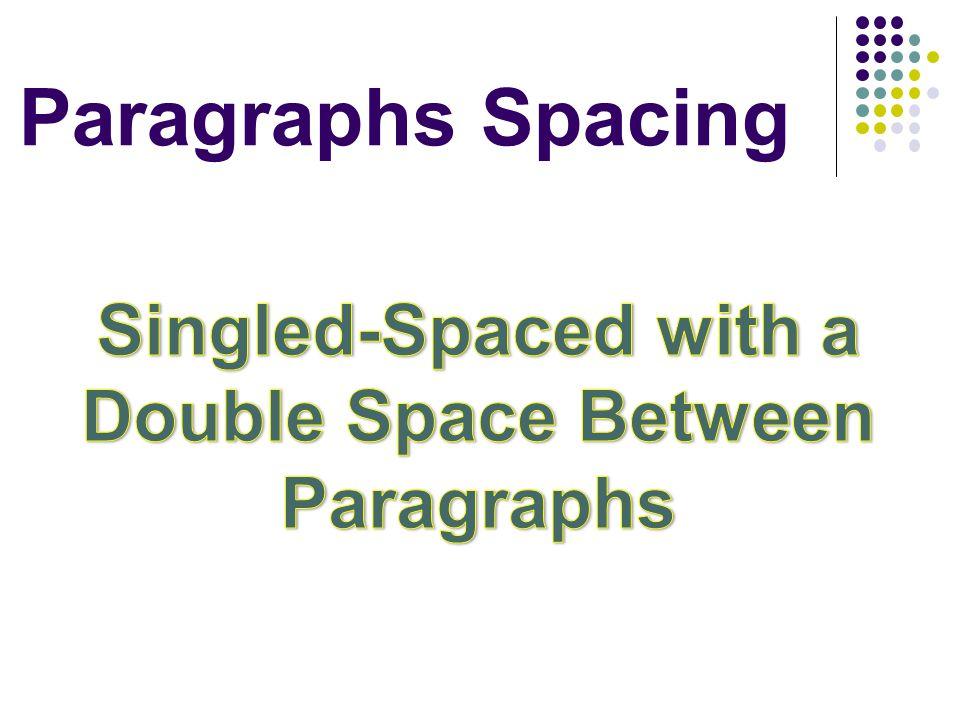 Paragraphs Spacing