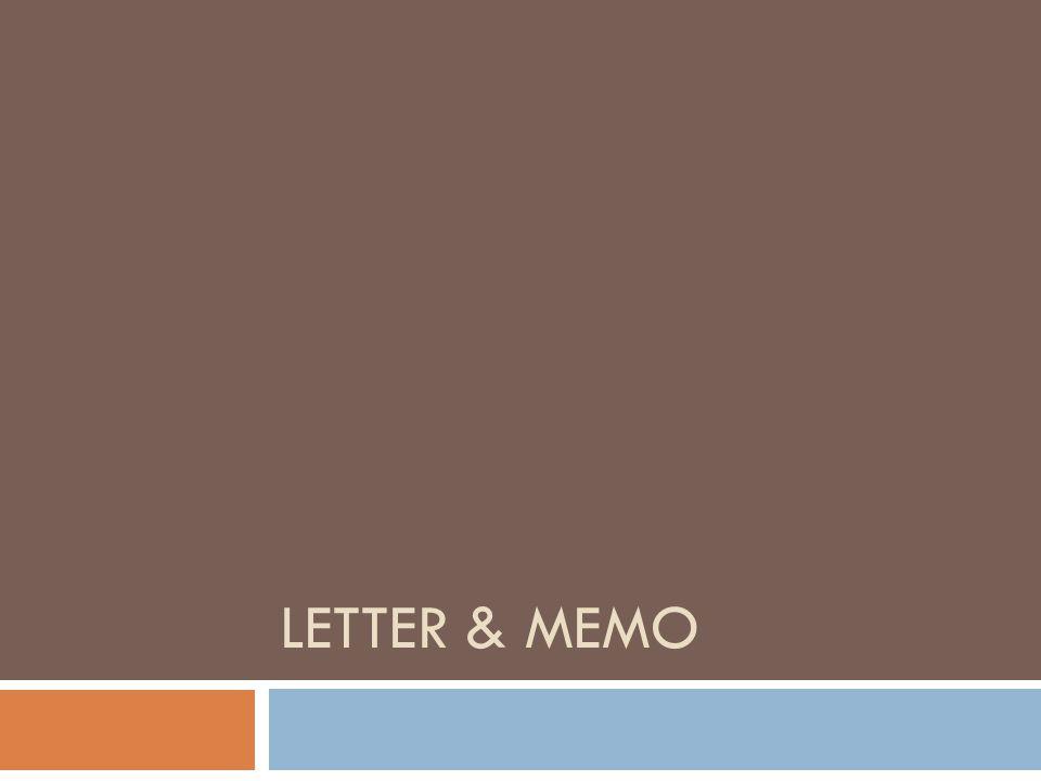 Memo or Memorandum