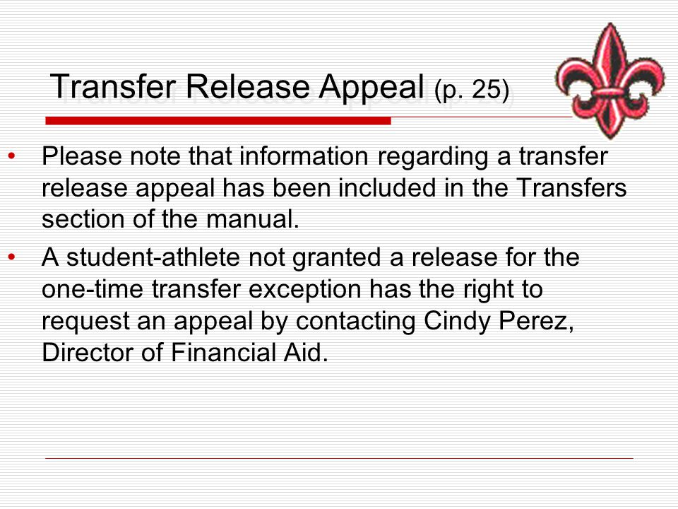 Transfer Release Appeal (p.