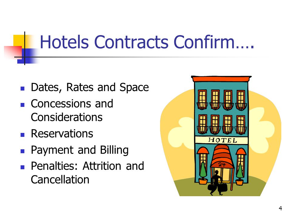 4 Hotels Contracts Confirm….