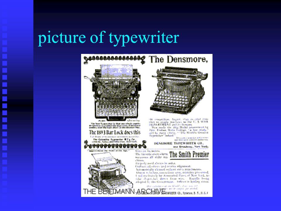 picture of typewriter