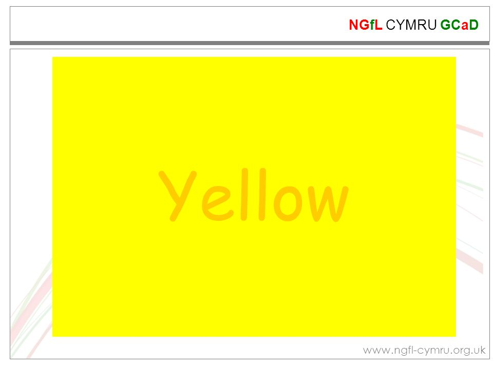 NGfL CYMRU GCaD www.ngfl-cymru.org.uk Orange