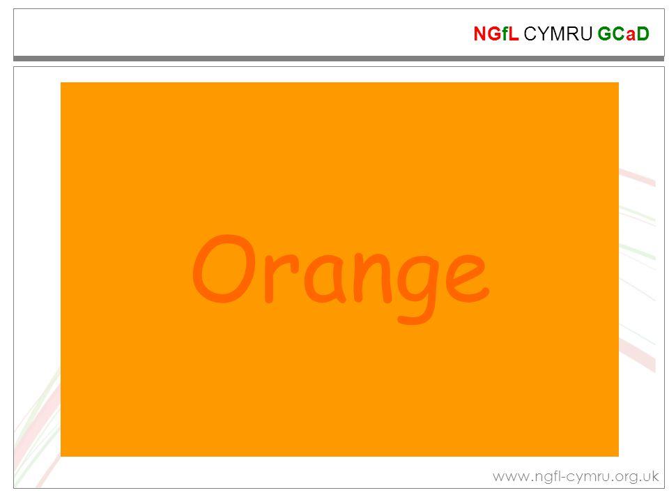 NGfL CYMRU GCaD www.ngfl-cymru.org.uk Display your finished work and talk about it.