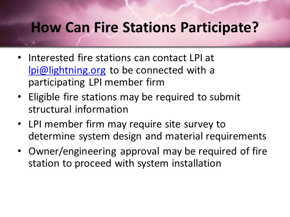 How Can Fire Stations Participate.