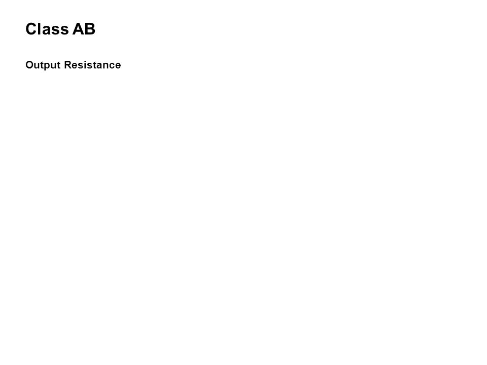 Class AB Output Resistance