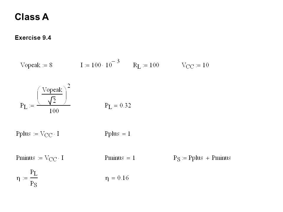 Class A Exercise 9.4