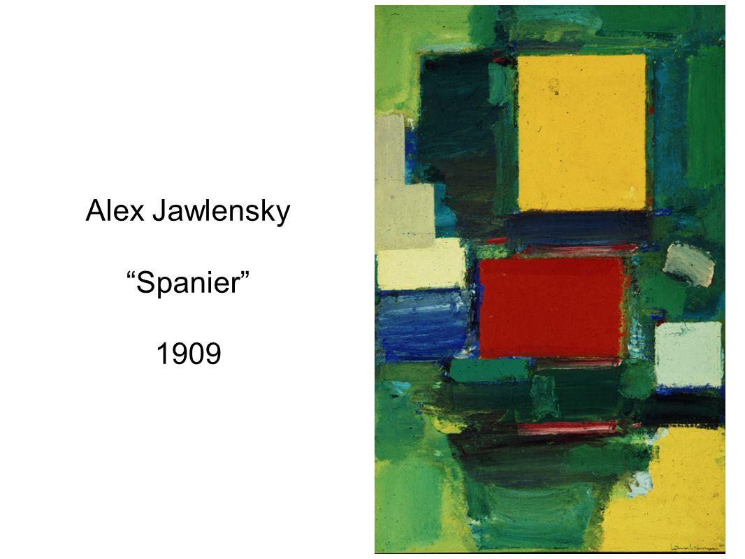 Alex Jawlensky Spanier 1909