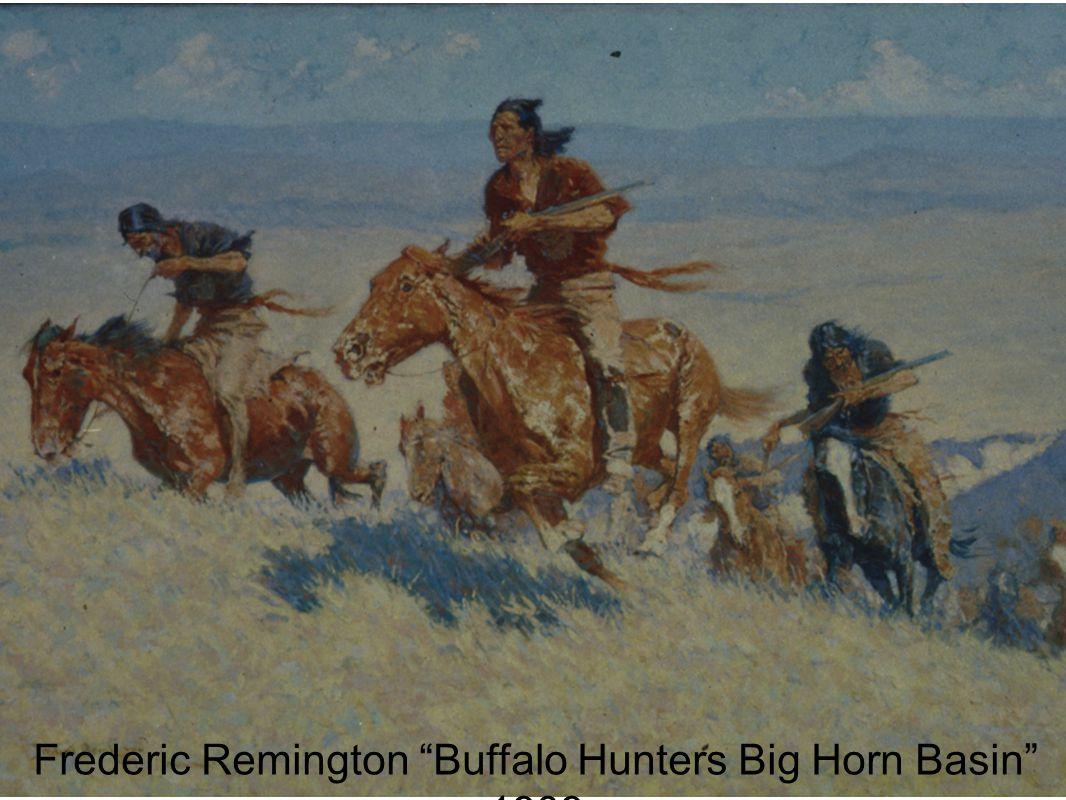 Frederic Remington Buffalo Hunters Big Horn Basin 1909