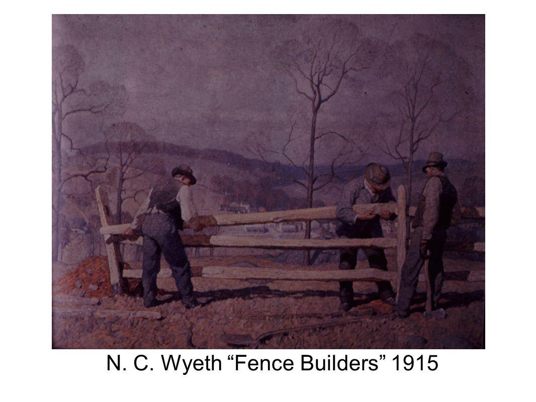 N. C. Wyeth Fence Builders 1915