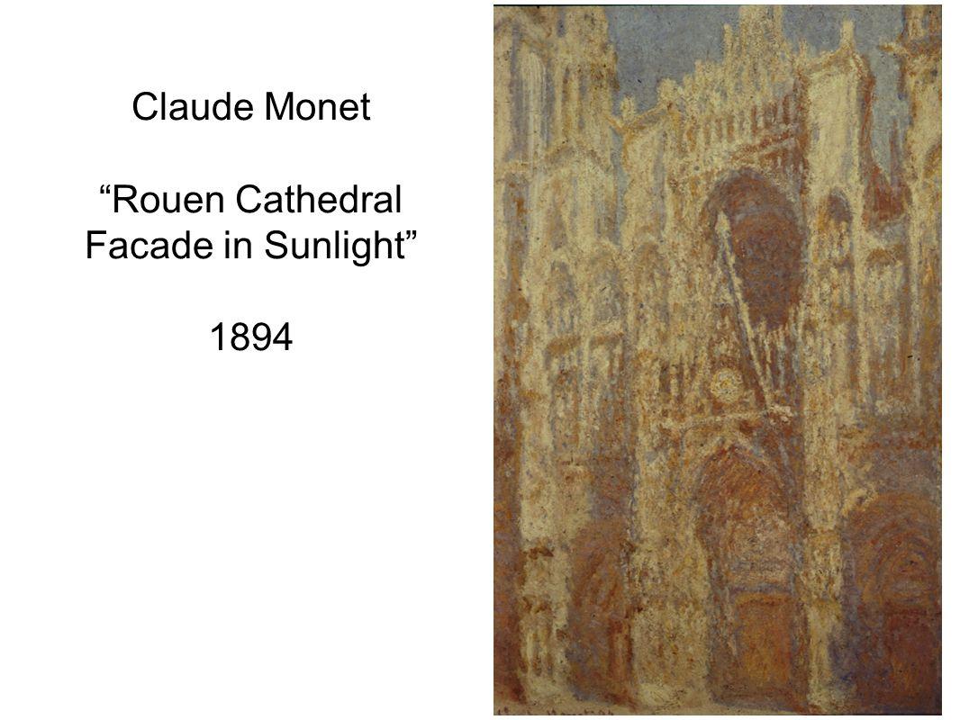 Claude Monet Rouen Cathedral Facade in Sunlight 1894