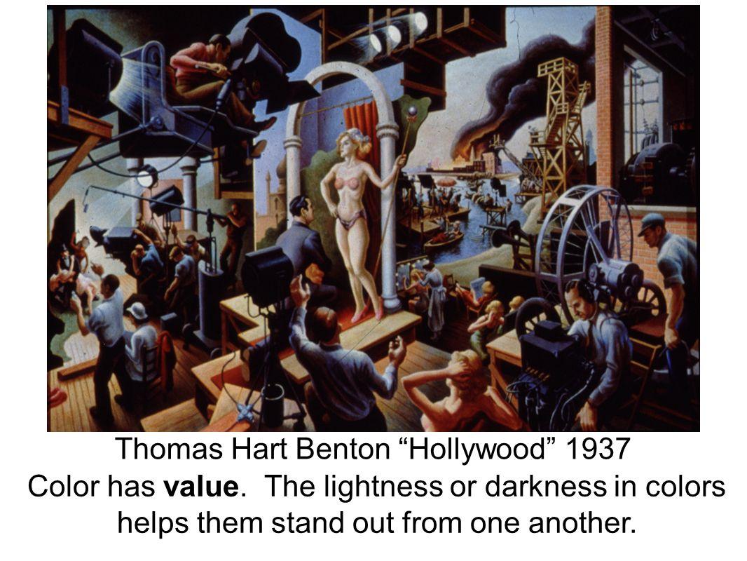 Thomas Hart Benton Hollywood 1937 Color has value.