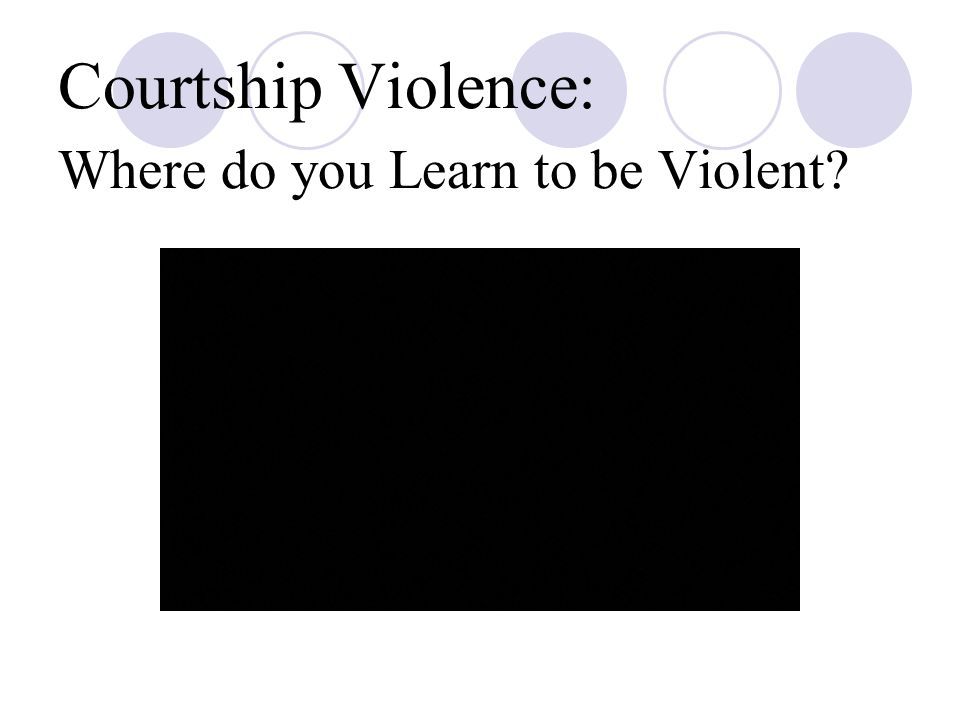 Courtship Violence: Where do you Learn to be Violent?