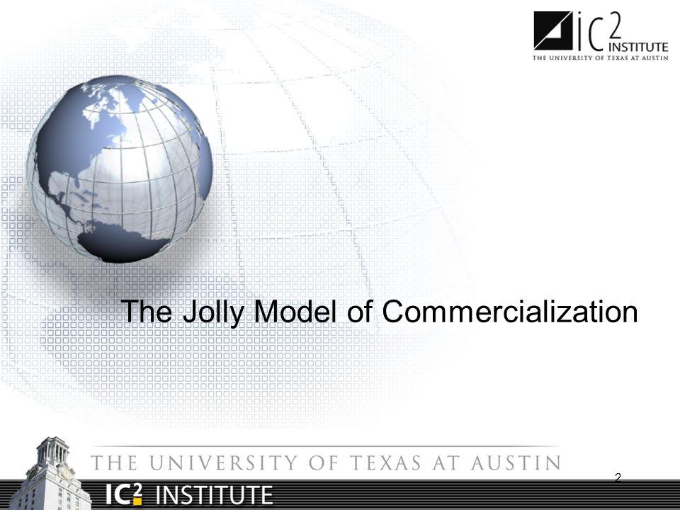 Vijay Jolly's Model of Technology Commercialization Source: Jolly, Vijay.