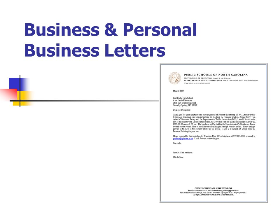 Business & Personal Business Letters