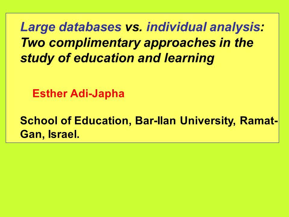 Large databases vs.