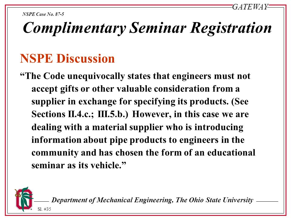 Department of Mechanical Engineering, The Ohio State University Sl.