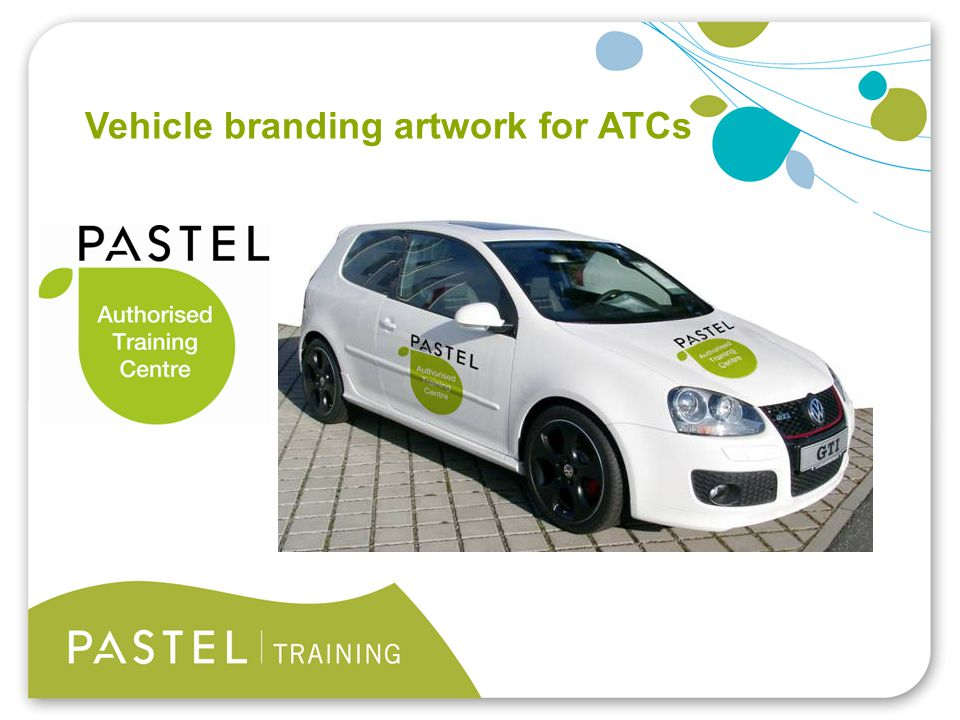 Heading 1 (Arial bold - point size 22) Vehicle branding artwork for ATCs
