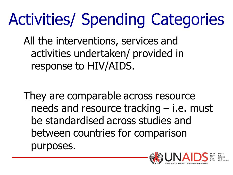 All the interventions, services and activities undertaken/ provided in response to HIV/AIDS.