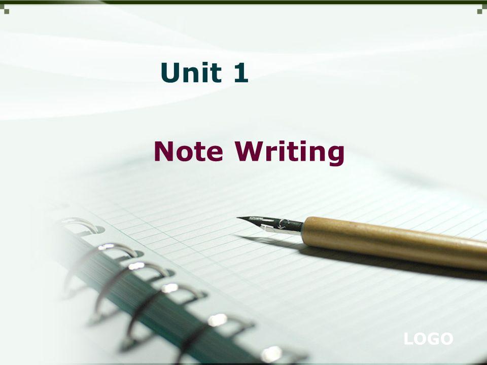 LOGO Note Writing Unit 1