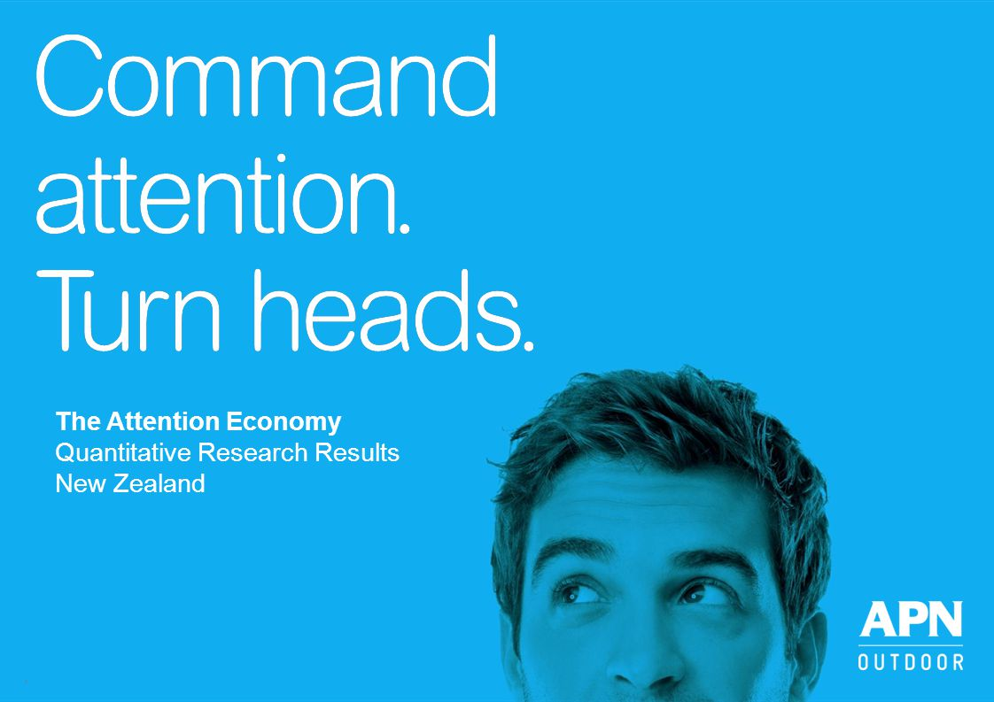 The Attention Economy Quantitative Research Results New Zealand 1