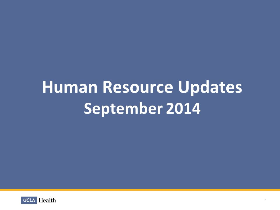 Human Resource Updates September 2014.