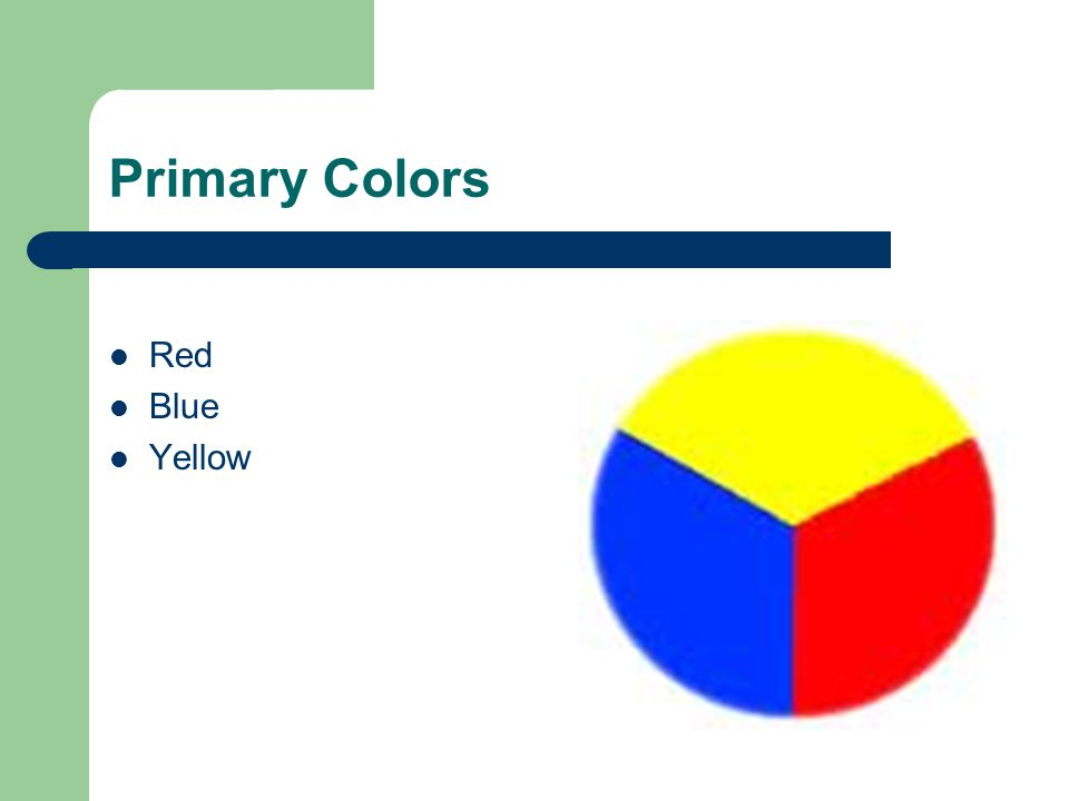 Primary Colors Red Blue Yellow