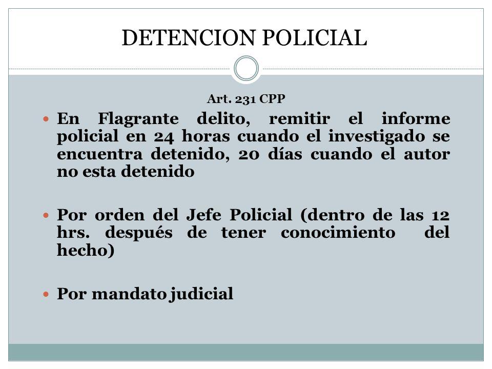 DETENCION POLICIAL Art.