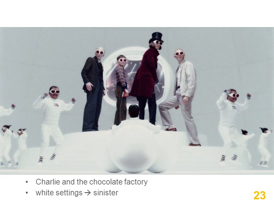 Charlie and the chocolate factory white settings  sinister 23