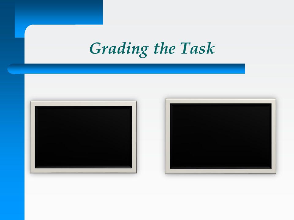 Grading the Task