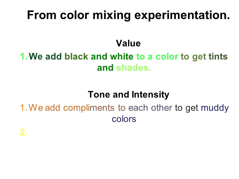 Complimentary – Hues that oppose one another on the color wheel.