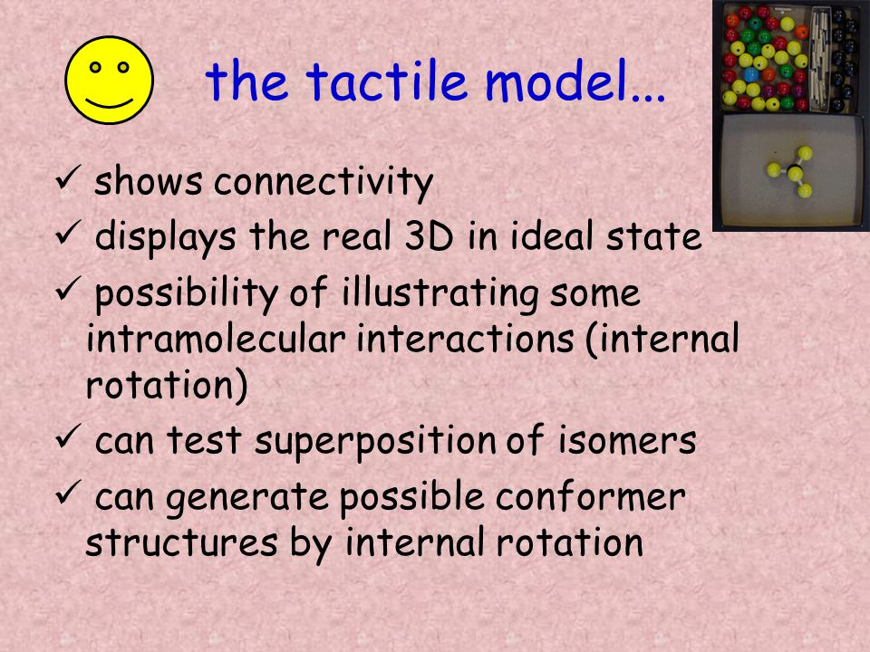 the tactile model...