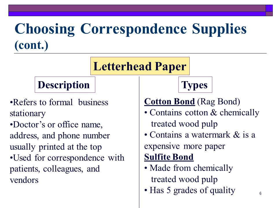 5 Letterhead PaperEnvelopes LabelsInvoices Statements Choosing Correspondence Supplies Supplies