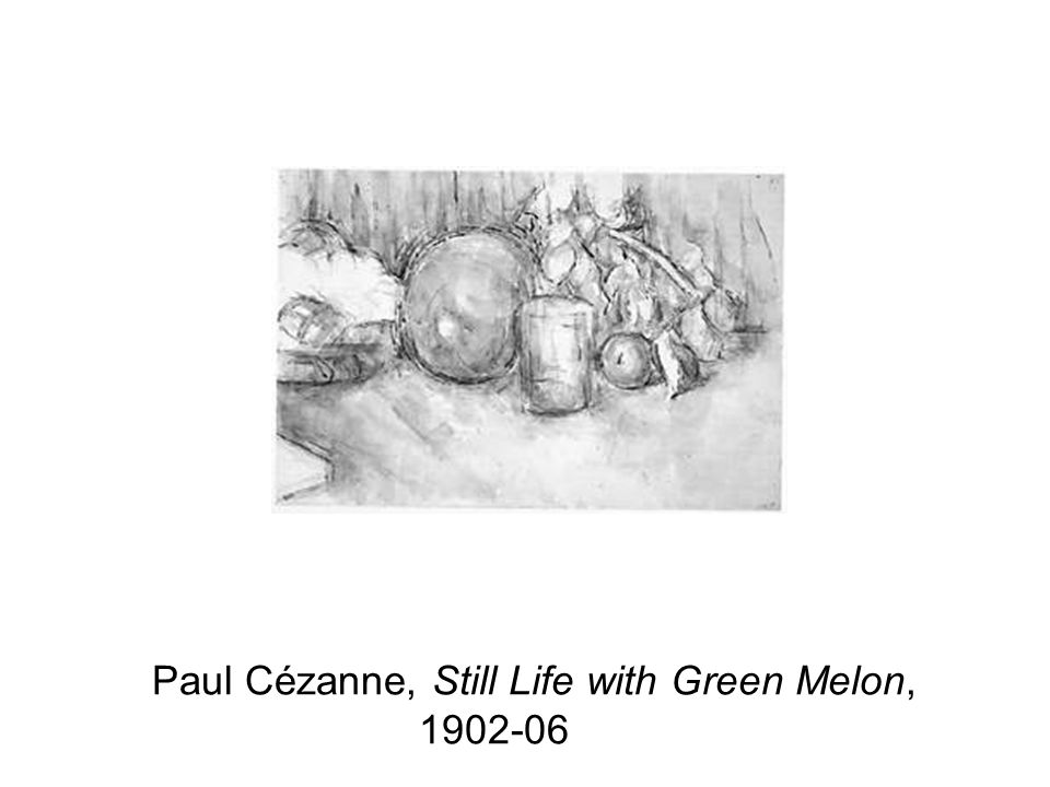 Paul Cézanne, Still Life with Green Melon, 1902-06 CO