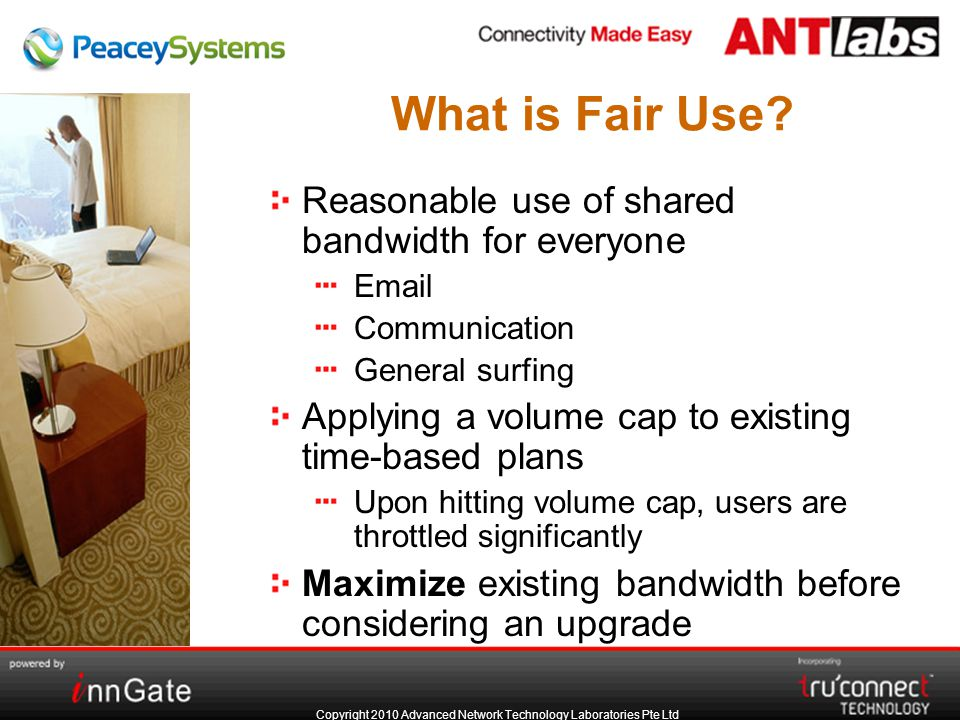 Copyright 2010 Advanced Network Technology Laboratories Pte Ltd What is Fair Use.