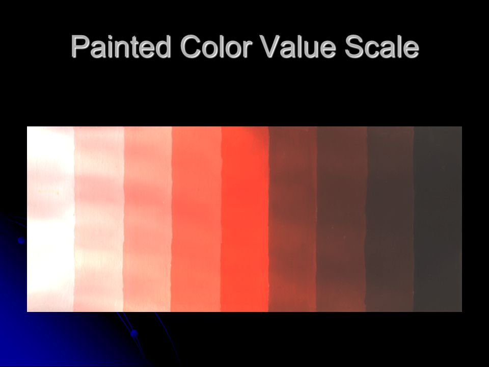 Painted Color Value Scale