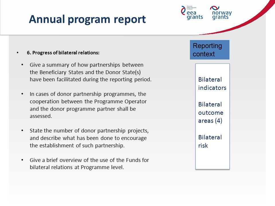 Annual program report 6.
