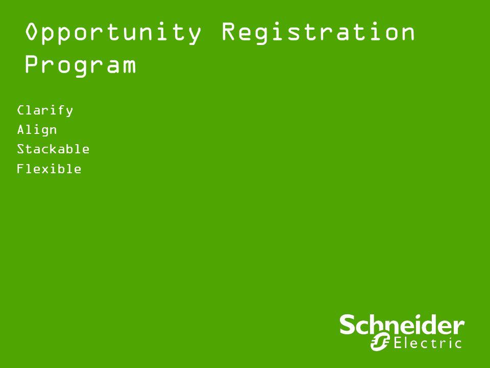 Opportunity Registration Program Clarify Align Stackable Flexible