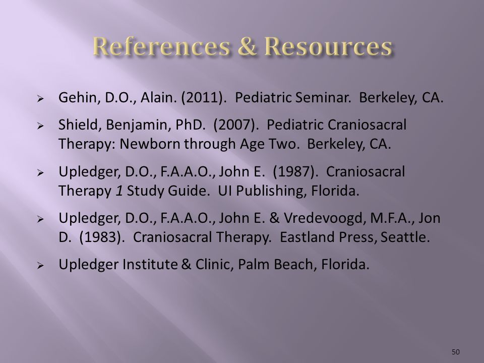  Gehin, D.O., Alain. (2011). Pediatric Seminar.