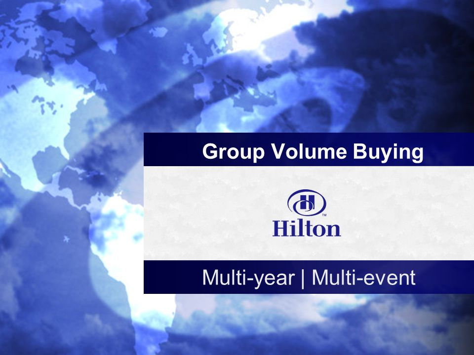c Group Volume Buying Multi-year | Multi-event