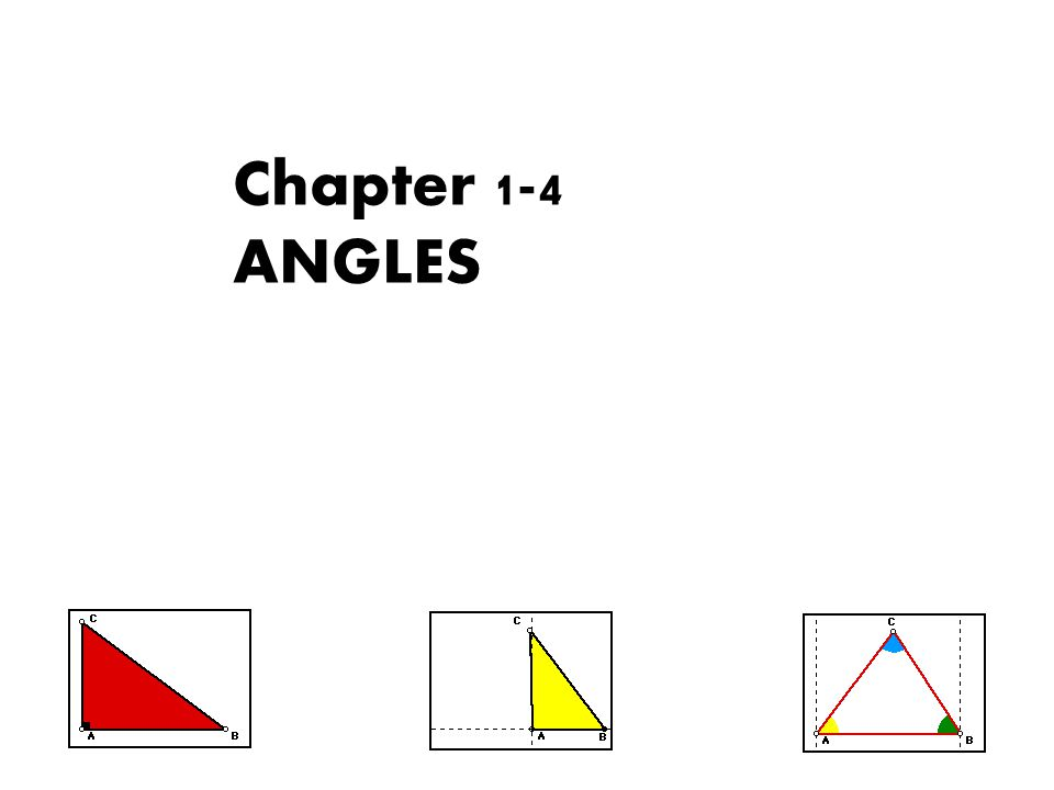 Chapter 1-4 ANGLES