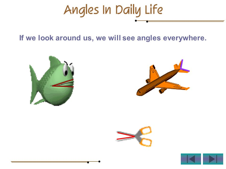 If we look around us, we will see angles everywhere. Angles In Daily Life