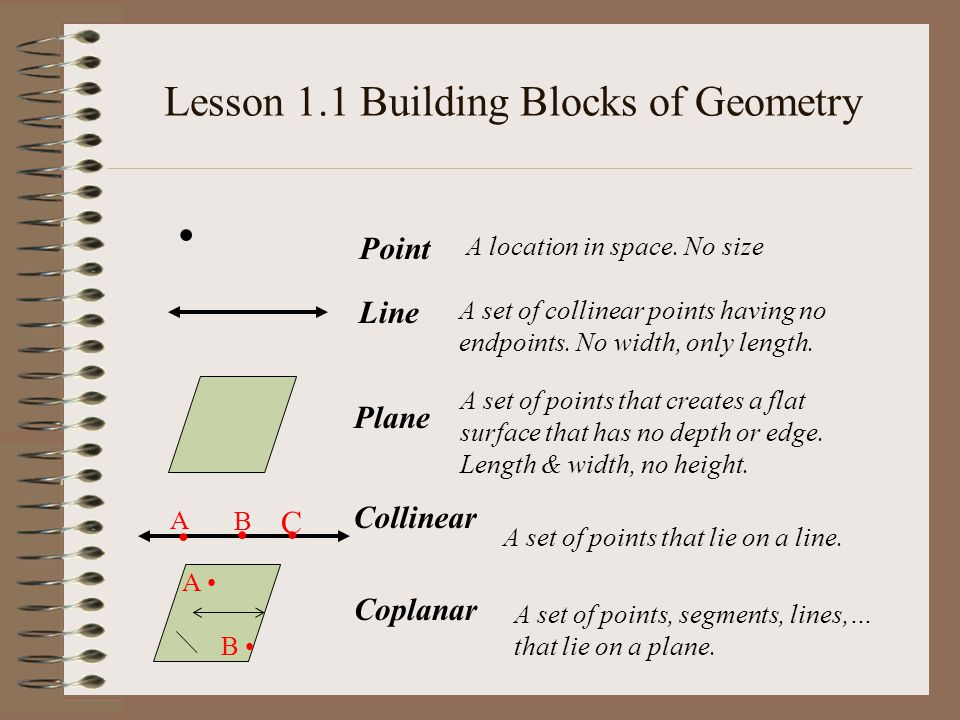 A D C E F B X Lesson 1.1 - Building Blocks of Geometry J..