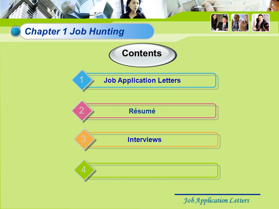 Job Application Letters The definition of a job application letter A job application letter is a short and introductory business letter written for the purpose of getting a job.